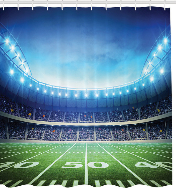 Superb Football Stadium Fabric Shower Curtain Contemporary Shower Curtains