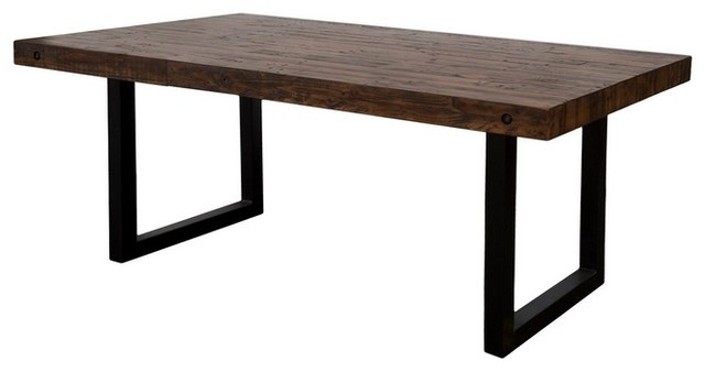 Recycled Pine Top Dining Table Rustic Dining Tables
