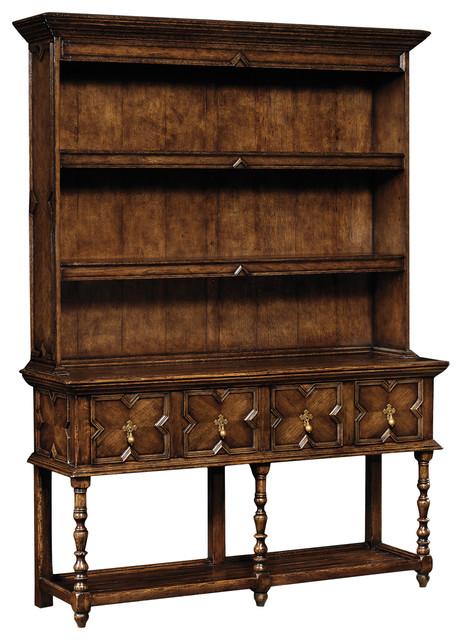 Jonathan Charles Tudor Style Dark Oak Dresser 493543