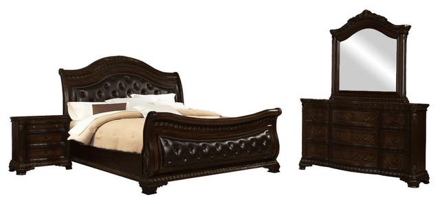 Dark Walnut 5 Piece Bedroom Set