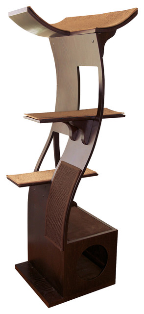 Lotus Cat Tower Contemporary Cat Furniture