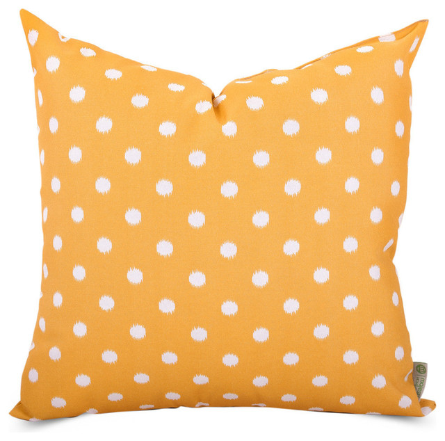 Outdoor Ikat Dot Large Pillow Contemporary Outdoor
