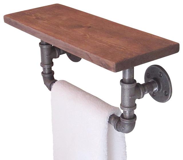Industrial Pipe Hand Towel Shelf