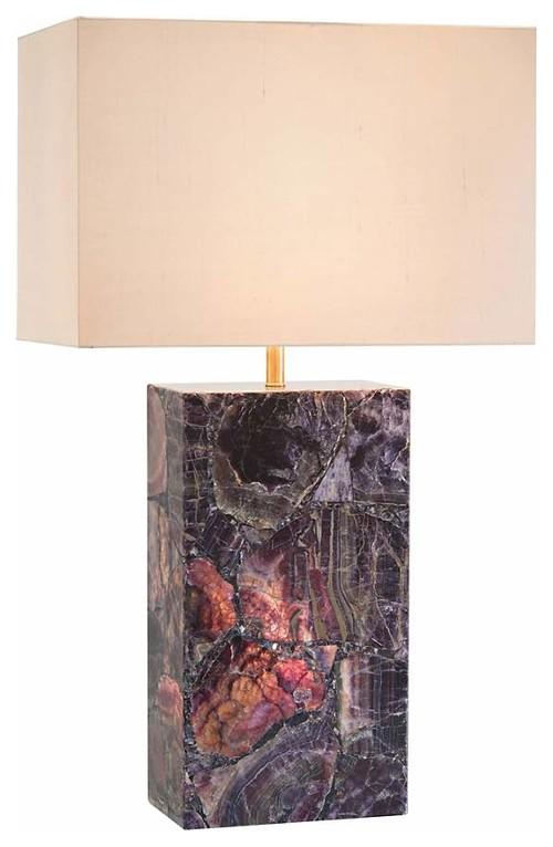 Rectangle Agate Lamp