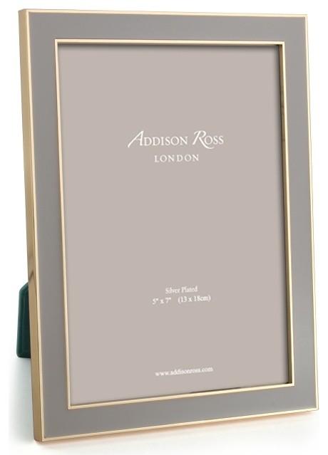 Addison Ross Taupe Gold Plate Enamel Frames 4x6