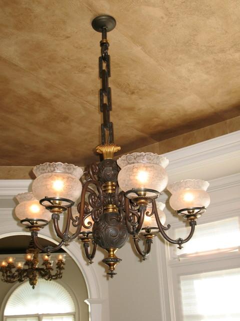 6-Light Gas Chandelier - Circa 1850's traditional - 6-Light Gas Chandelier - Circa 1850's - Traditional - Boston - By