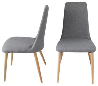 Iris Contemporary Dining Chairs, Set of 2