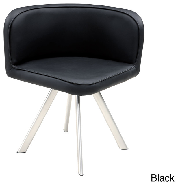 Low back pu dining chair contemporary dining chairs for Modern low back dining chairs