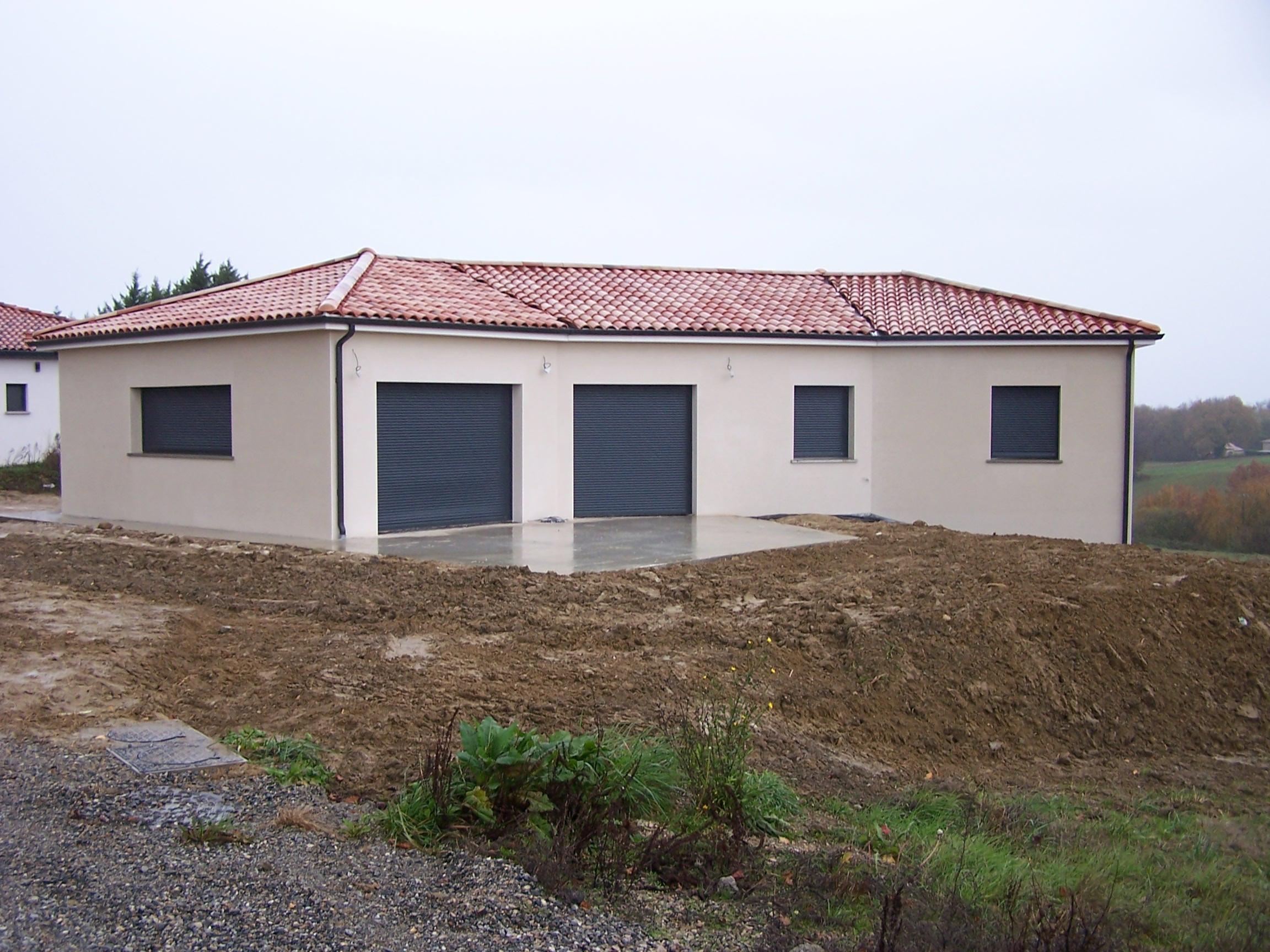 Construction de maison à Castelmourou avec sous sol complet