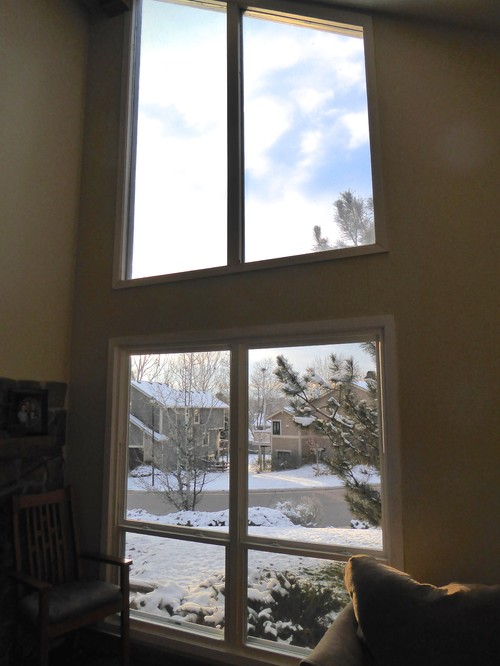 New Window coverings for big windows-mountain view,privacy,sun blocking AC92