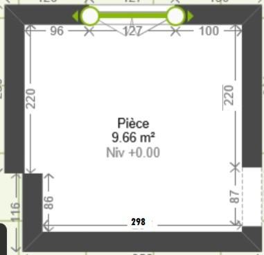comment int grer une douche dans une chambre de 9 50m2. Black Bedroom Furniture Sets. Home Design Ideas