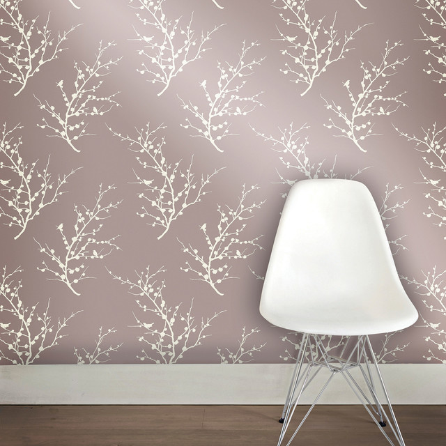 Edie, Self-Adhesive Removable Wallpaper, Champagne, 56.37 Sq. Ft..