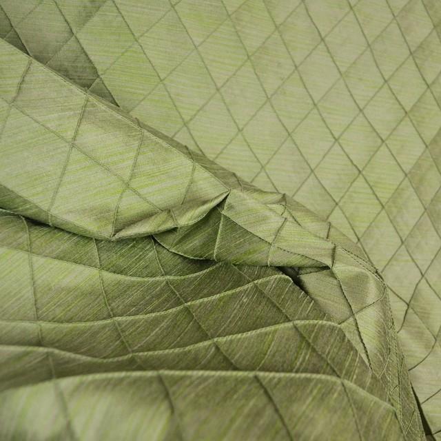 Fusion Fern Pintuck Green Diamond Fabric