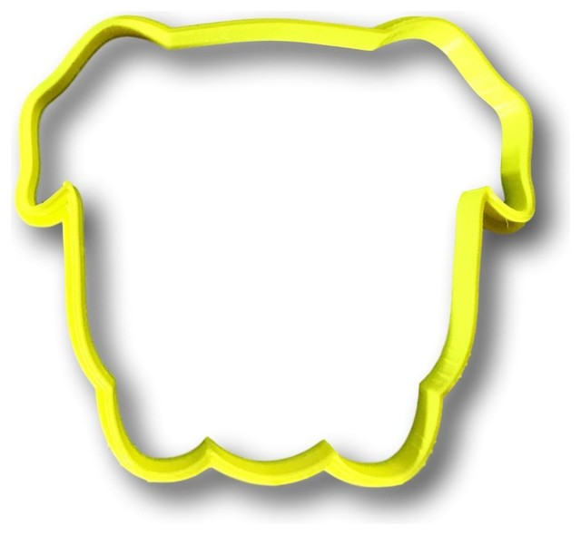"""Bulldog Cookie Cutter Outline, 3.5""""."""