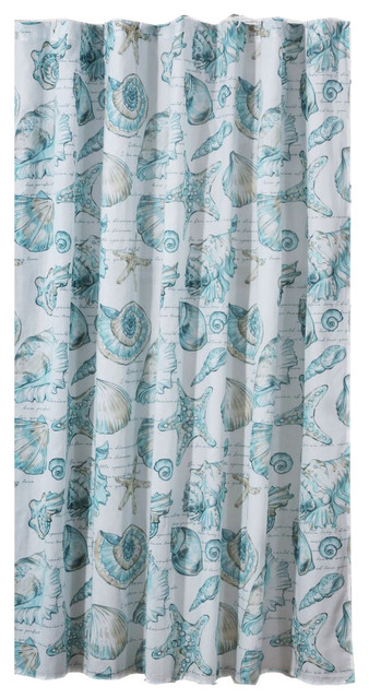 Barefoot Bungalow Cruz Coastal Shower Curtain 72 X Multicolor