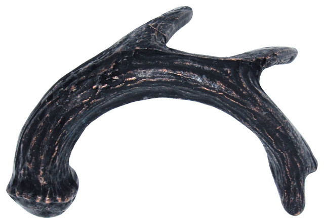 Antler Right Facing Cabinet Pull, Oil Rubbed Bronze