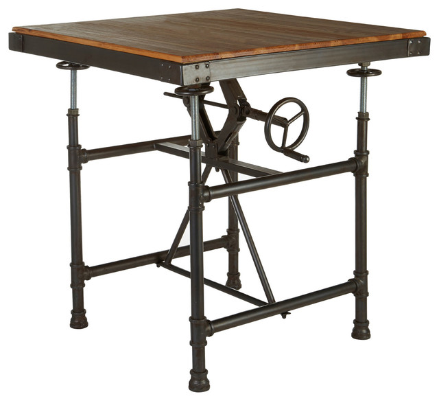 New Foundry Adjustable Height Dining Table Industrial
