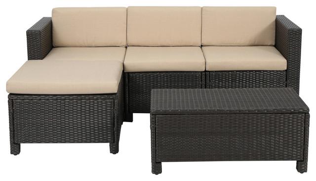 lorita outdoor sectional sofa set brown