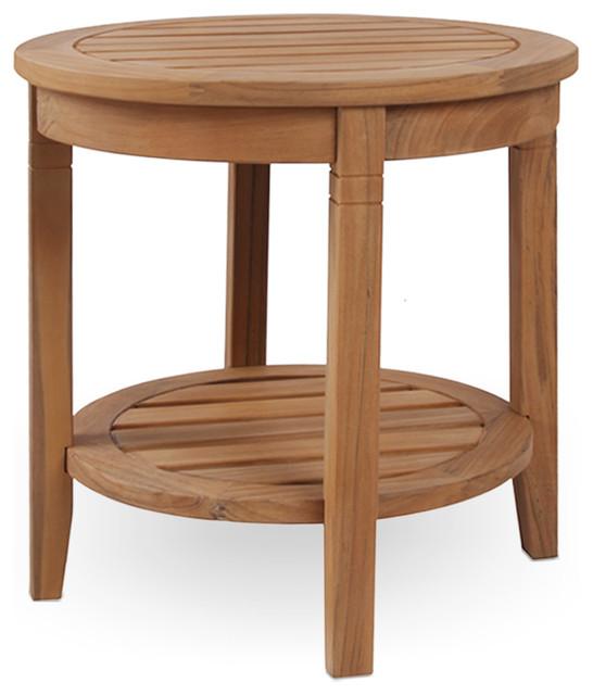 Sidetable Blank Teak.Cambridge Casual Sherwood Teak Outdoor Side Table