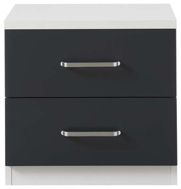 Compact Bedside Table compact bedside table (2 drawer) - modern - nightstands and
