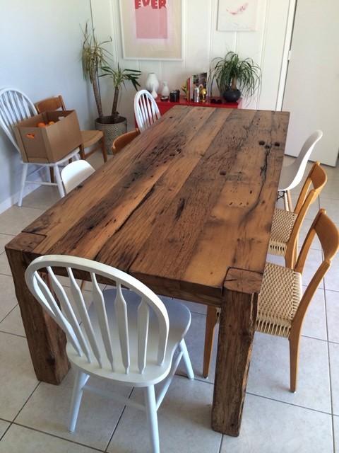 Dining Table - White Oak Farmhouse Table - Farmhouse ...