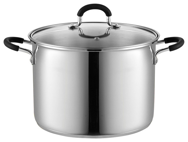 Cook N Home 02440 Stockpot Saucepot With Lid Induction Compatible, 8 Quart.