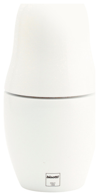 Bisetti Icons Matryoshka Spice Mill, 6.69&x27;&x27;x3.3&x27;&x27;, White Lacquered.
