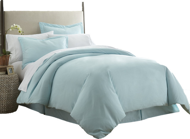 home collection ultrasoft luxury duvet set aqua twintwin xl - Comforter Covers