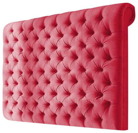 Elwood Linen Floorstanding Headboard, Red, 183 cm