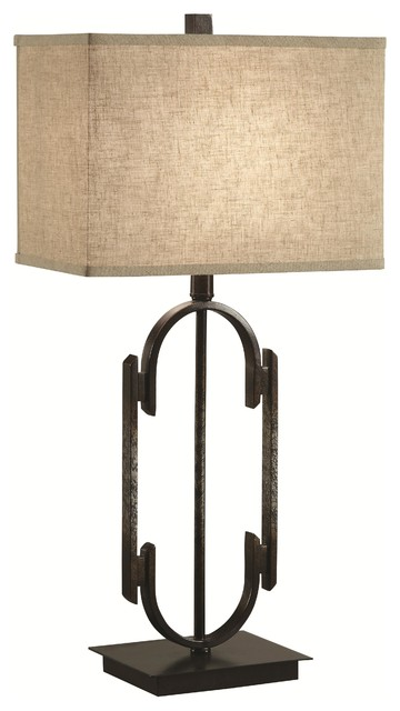 Coaster Table Lamp With Rectangular Shade