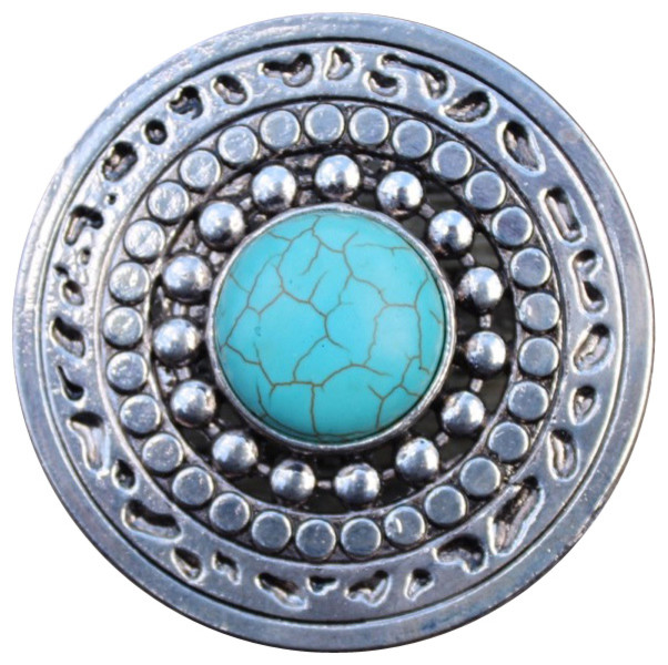 DaRosa Creations - Large Ornate Round Drawer Knob With Turquoise Stone - View in Your Room! | Houzz