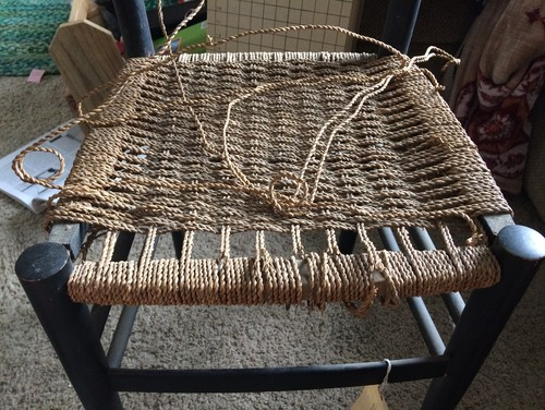 Chair Seat Weaving With Sea Grass