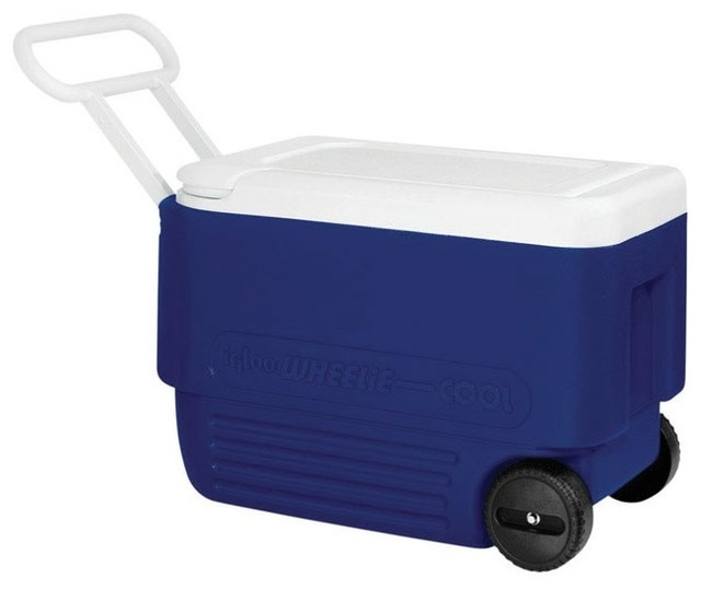 Igloo Wheelie Cool Ice Chests With Handle, 38 Qt..