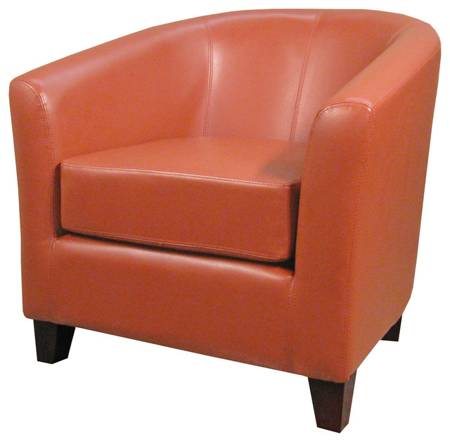 Hayden Bonded Leather Tub Chair Transitional Armchairs