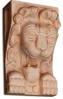 Lion Wood Carving, White Oak, O21Ok/Oy21 - Traditional ...