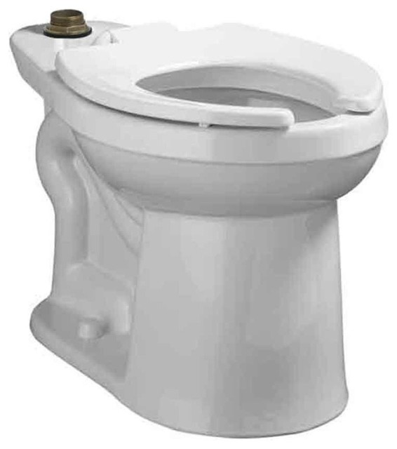right width flowise elongated toilet bowl only white