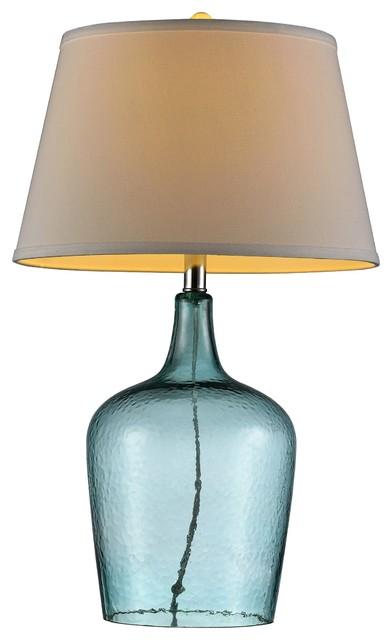 "27"" Ocean Breeze Glass Table Lamp."
