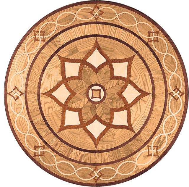 Floor Medallions Inlays : Arizona wood medallion mediterranean floor medallions