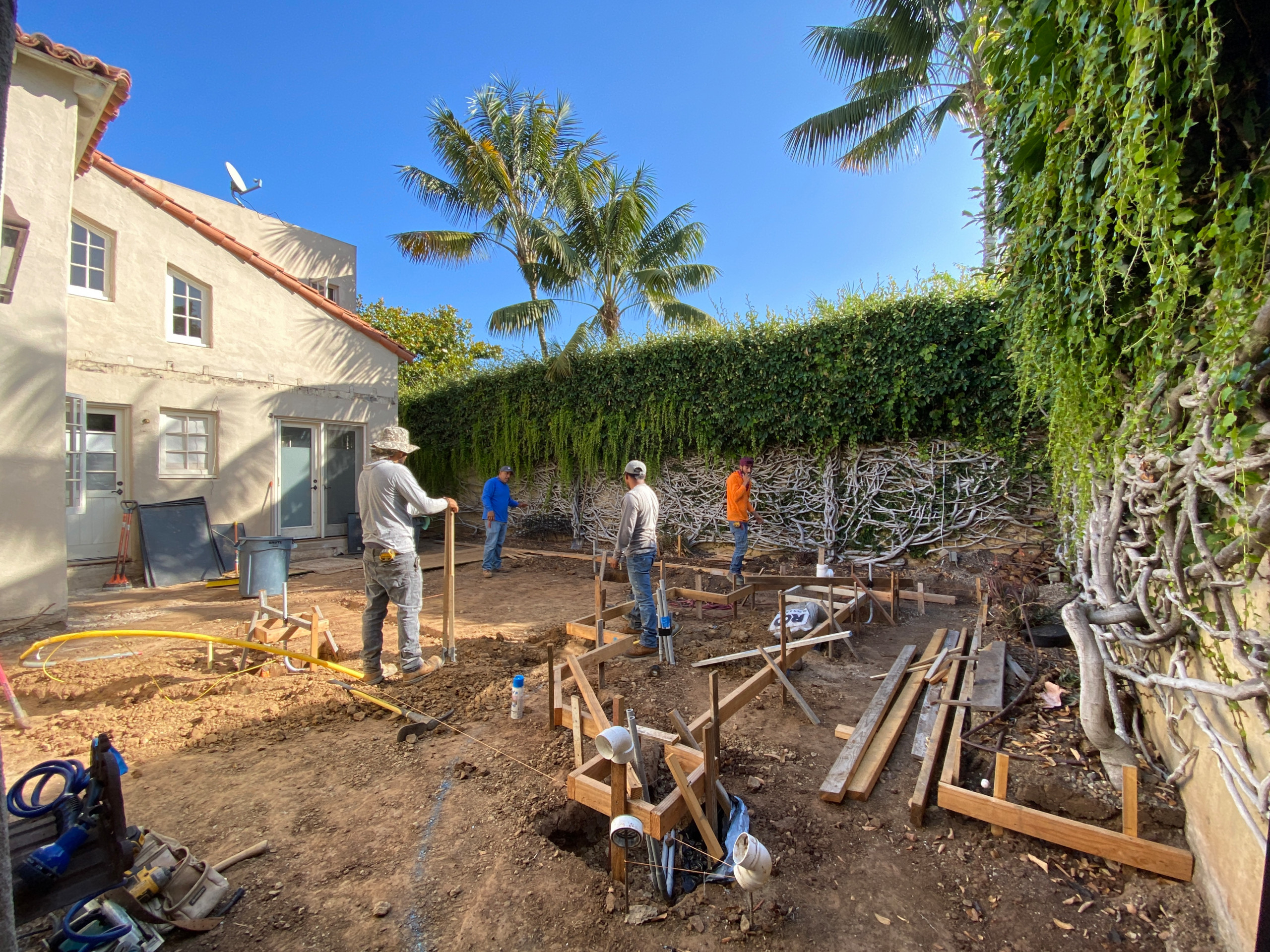 Forming for a Concrete Patio Area