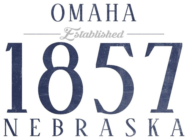 Quot Omaha Nebraska Established Date Blue Quot Print