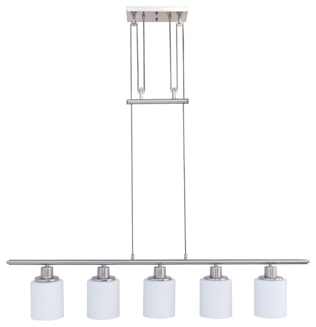 "Design House 578435 Aveline 5 Light 44-11/16"" Wide Linear Chandelier"