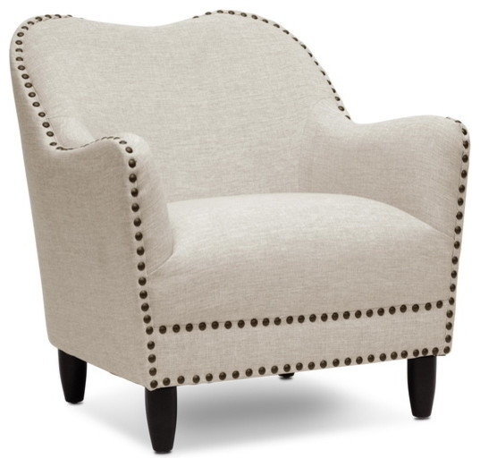 Seibert Linen Modern Accent Chair, Beige by Baxton Studio