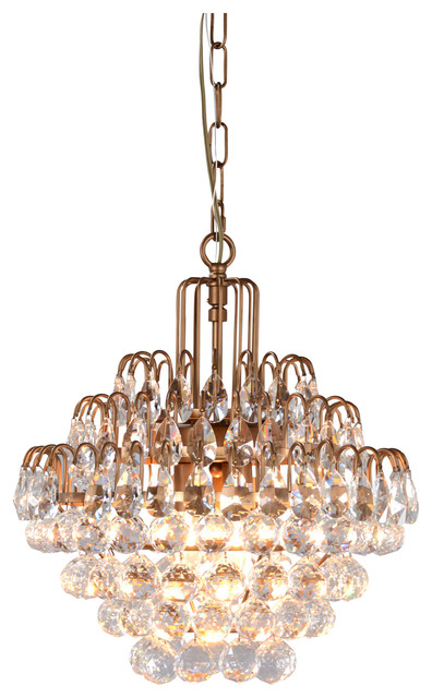 Thayer 3-Light Tear-drop Crystal Chandelier by Kosas Home