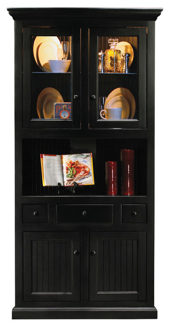 Eagle Furniture Corner Dining Hutch/Buffet, Black  Traditional China Cabinets And