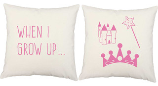 I Want To Be A Princess Throw Pillows, In/Outdoor Covers and Cushions
