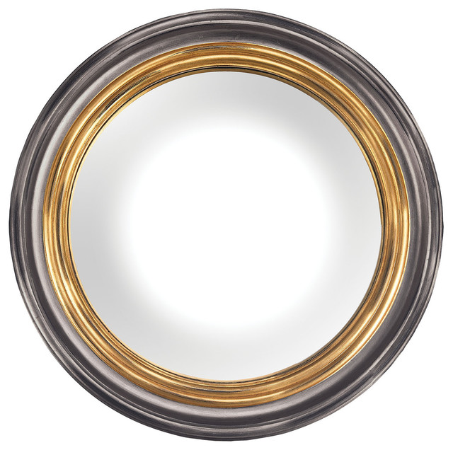 Convex Wall Mirror barcelona composite frame convex wall mirror, belgian black and