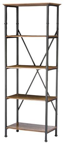 Contemporary Bookcase, Brown.