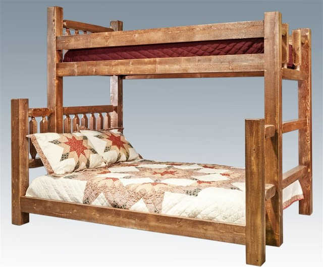 Twin over Full Bunk Bed in Lacquered Finish