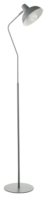 Darby Contemporary Floor Lamp, Sage Green Metal by LumiSource