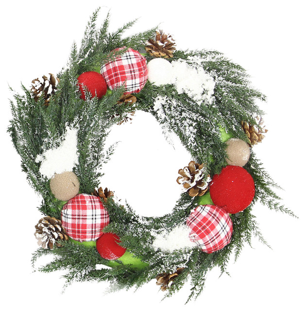 Plaid Christmas Wreath.